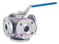 3- / 4- / 5-Way Flanged Ball Valve