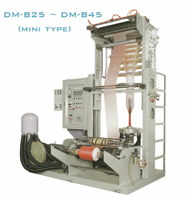 INFLATION TUBULAR FILM MANUFACTURING MACHINE FOR LDPE/HDPE/LLDPE (MINI TYPE)