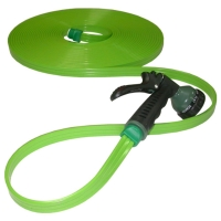 Tri-Flat Hose With 7-Pattern Spray nozzle