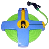 Tri-Flat Hose With Hose Reel  7-Pattern Spray nozzle