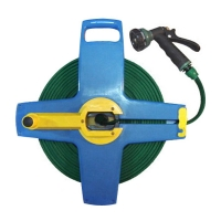 KNIT FLAT HOSE With Hose Reel 7-Pattern Spray nozzle