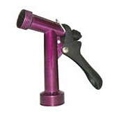 "4 1/2"" Front Threaded Powder-Coated Metal Trigger Nozzle Resin Stem & Nut Nylon Lever"