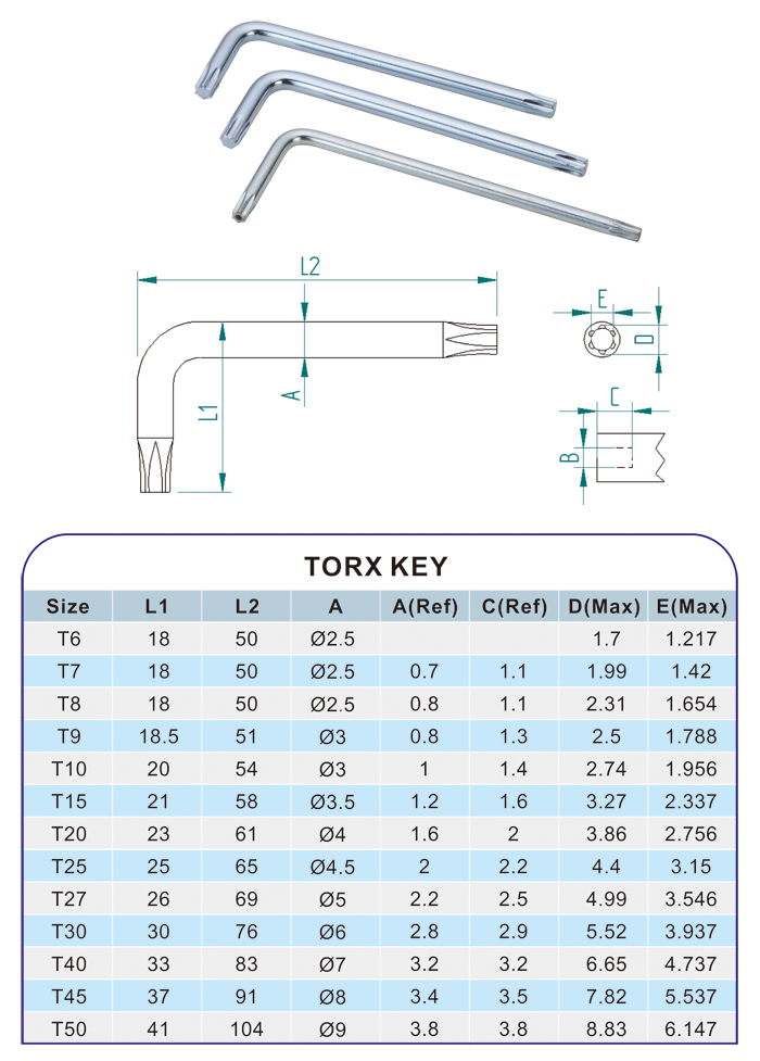 Torx Wrench Key