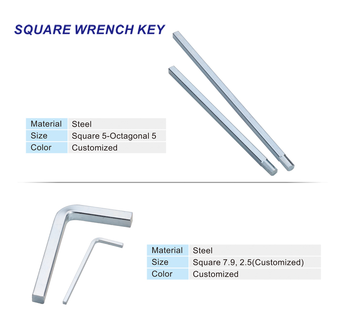 Square Wrench Key