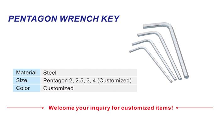 Pentagon Wrench Key