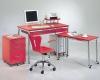 辦公書桌/電腦桌搭配活動檔案櫃及活動側桌與OA辦公椅
