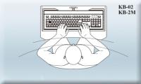 符合人體工學設計桌下型   電腦鍵盤抽屜