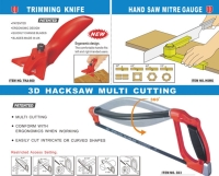 Trimming Knife/Hand Saw Mitre Gauge/3D Hacksaw Multi Cutting