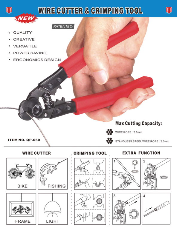 Wire Cutter & Crimping Tool