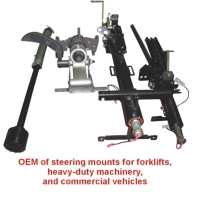 OEM of steering mounts for forklifts, heavy-duty machinery, and commercial vehicles