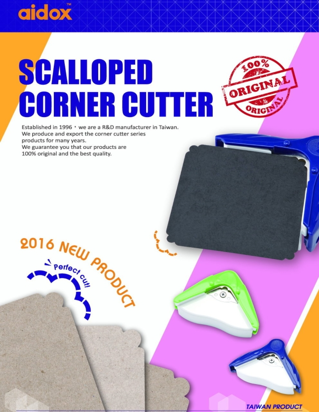 Scalloped corner cutter