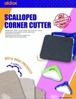 Scalloped corner cutter