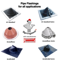 Round Base Pipe Flashings