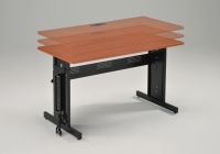 Adjustable-Height Computer Desk w/Electrical Option
