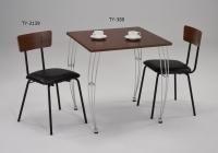 鐵線腳餐桌;餐椅