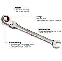 Flex Ratcheting Wrench / Double Flex / Stubby Flex