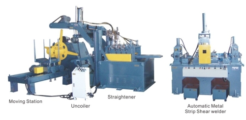 Metallic strip auto shear welder / Automatic Metal Strip Shear welder