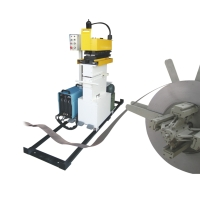 Metallic strip portable shear welder
