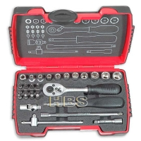 Cens.com 30 PCS 1/4Dr. Bit & Socket Tool Kit / Tool Sets / Tool Kit HARDWARE BUYERS SOURCE, INC.