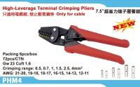 High-leverage teminal crimping pliers