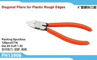Diagonal Pliers for Plastic Rough Edges