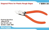 Diagonal Pliers for Plastic Rough Edges