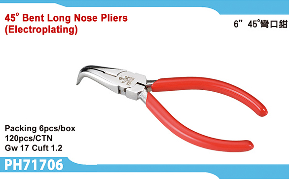 45° Bent Long Nose Pliers(Electroplating)