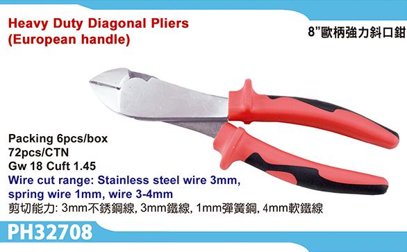 Heavy Duty Diagonal Pliers (European Handle)