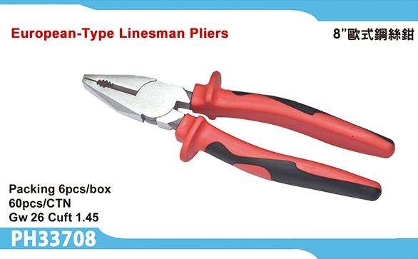European-Type Linesman Pliers