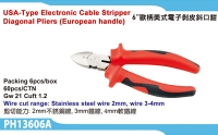 USA-type Electronic cable stripper diagonal pliers (European Handle)