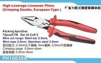 High-leverage Linesman Pliers (European handle)