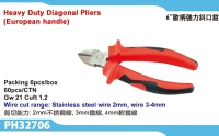Cens.com Heavy Duty Diagonal Pliers(European Handle) POWER & HARD INDUSTRY CO., LTD.