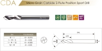Solid Carbide 2-Flute Position Sport Drill