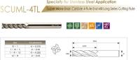 Super Micro Grain Carbide 4-Flute End Mill Long Series Cutting Flute