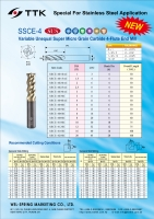 Unequal-flute Super Micro Grain Carbide End Mill special for Stainless Steel