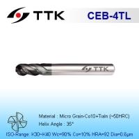 Fine Micro GrainvSolid Carbide 4-Flute Ball End Mill