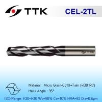 Fine Micro Grain Solid Carbide 2-Flute End Mill Long Flute