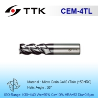 Fine Micro Grain Solid Carbide 4-Flute High Helix End Mill