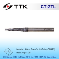 Fine Micro Grain Solid Carbide 2-Flute Tapered End Mill