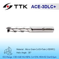 Fine Micro Grain Solid Carbide 3-Flute End Mill (Aluminum, Graphite)