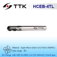 Super Micro Grain Carbide 4-Flute Ball End Mill