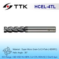 Super Micro Grain Carbide 4-Flute End Mill Long Flute