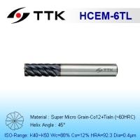 Super Micro Grain Carbide 6-Flute End Mill