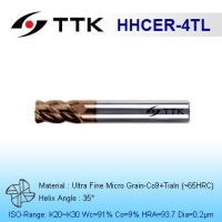 Ultra Fine Micro Grain Carbide 4-Flute Corner Radius End Mill