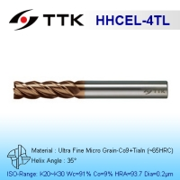 Ultra Fine Micro Grain Carbide 4-Flute End Mill Long Flute