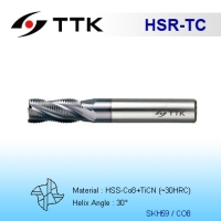 HSS Roughing End Mill Fine Pitch, Round Profile