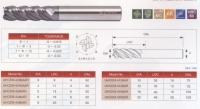Super Micro Grain Carbide 4-Flute  High Helix Heavy Duty End Mill