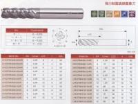 Super Micro Grain Carbide 4-Flute Corner Radius High Helix Heavy Duty End Mill