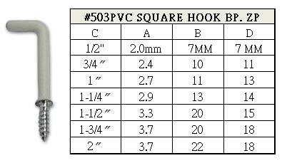 PVC Square Hook