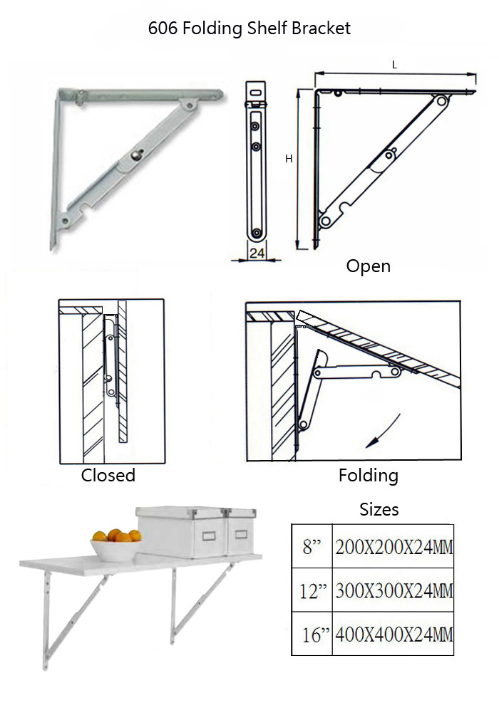 bench heavy shelf pcs inch sturdy mounted wall tools white folding brackets triangle duty bracket table metal sumnacon hinge bra